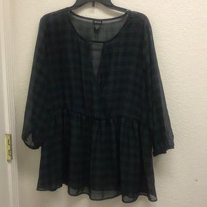 Torrid shell top flannel pattern